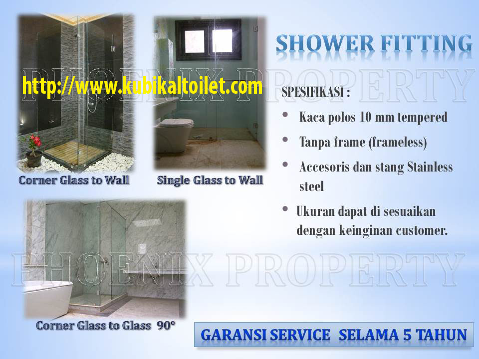 shower fitting framless 10mm